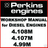 Perkins Diesel 4.108M 4.107M 4.99M Workshop Manual