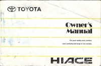 Toyota Hiace 1989-2004 Owner's Manual