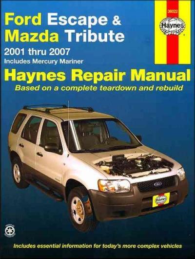 ford escape   repair workshop manualmanualsucomau