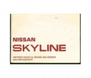 Nissan Skyline R31 Owners Manual